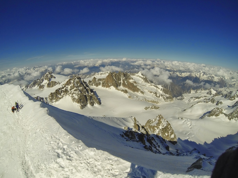 vue sur le glacier de Saleina