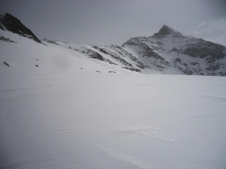 Untere Rotspitze: qui deviamo per un canale più diretto