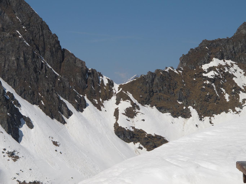 Col des Avouillons depuis la cabane Panossière