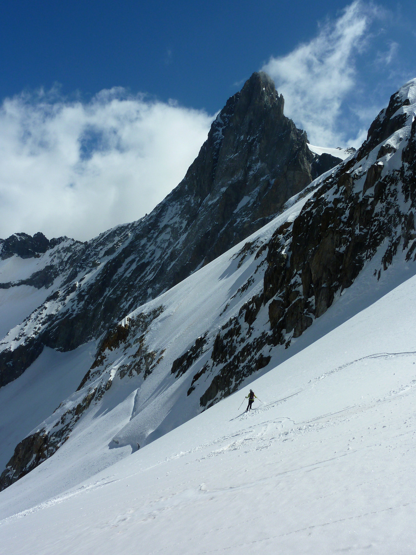 Belle ambiance sur le haut du glacier