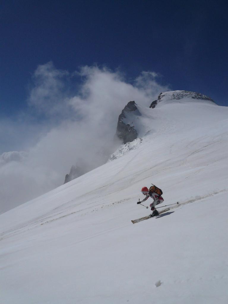 Les Rouies: bonne qualité de ski alors qu'on s'inquiétait à la montée :-)
