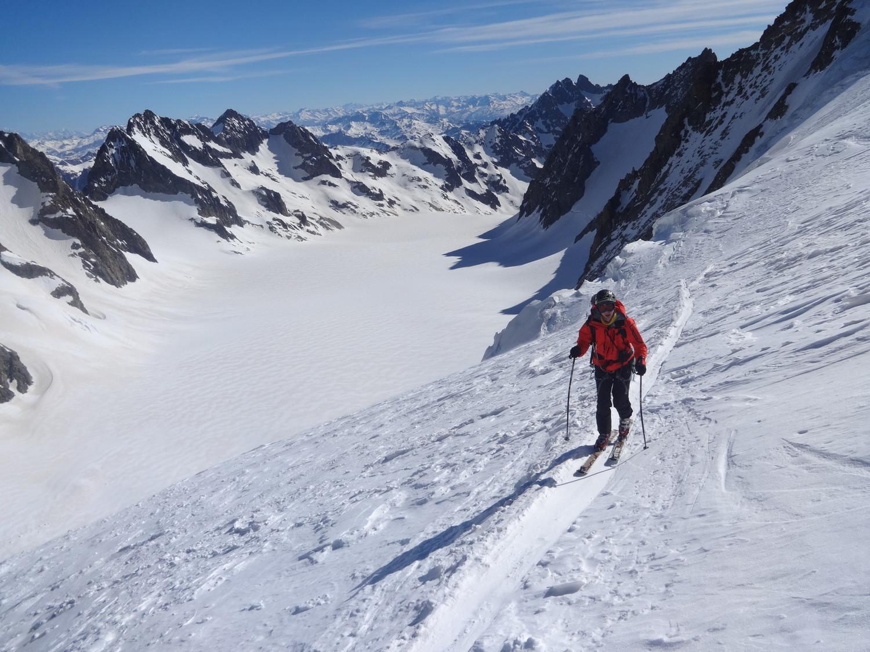 J5 - montée au Dôme avec vue sur le Glacier Blanc
