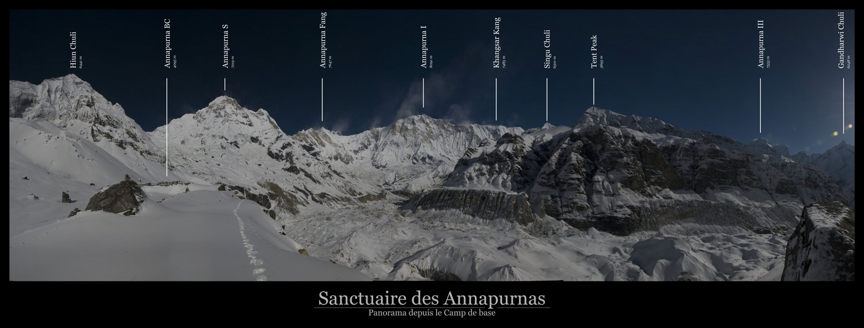 Panorama depuis le Camp de Base des Annapurnas