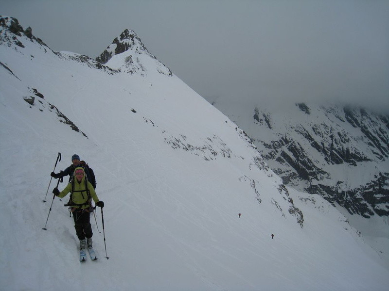 Arrivée au Col de la Grande Traversière, Pointe de Bassac Sud