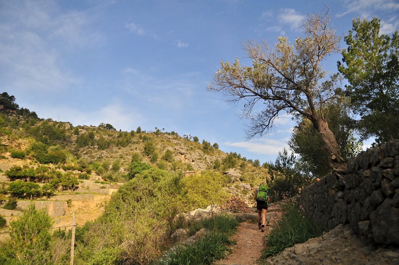 montée au-dessus de la cala Deia vers Porto Soller