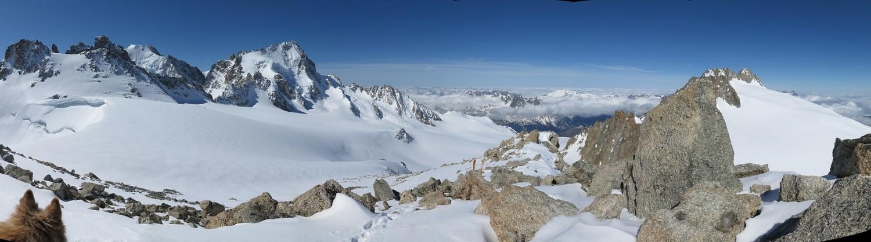 Panoramique de la Petite Fourche à l'Aiguille du Tour