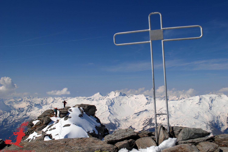 Arrivo in cima al Pizzo Mater 3025m
