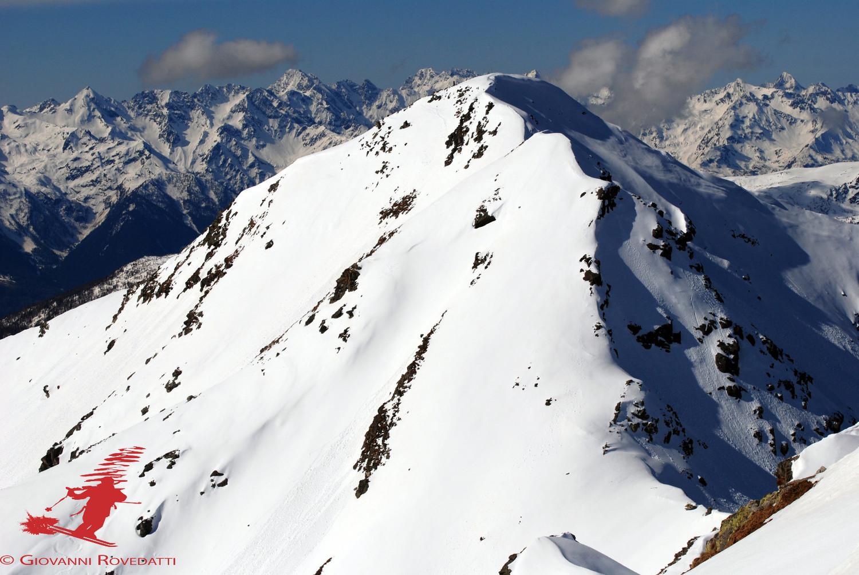 Il versante E del Piz Trevisina 2823m visto dal Il Sasso 2818m