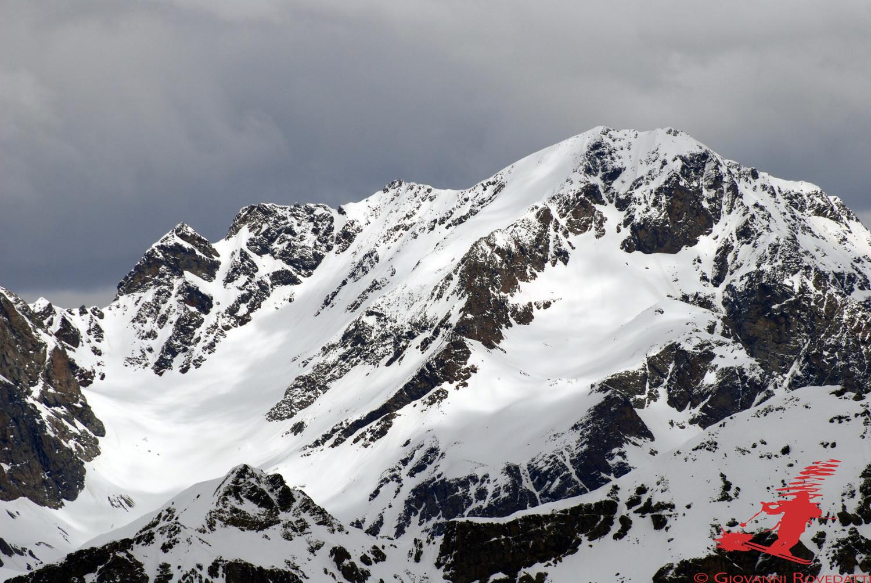 La Cima di Lago Spalmo  3291m versante SW dal Pizzo del Termine 2824m