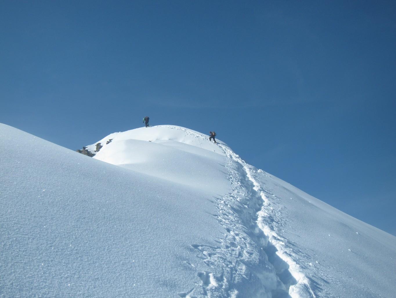 Franco e Astrid verso la cima