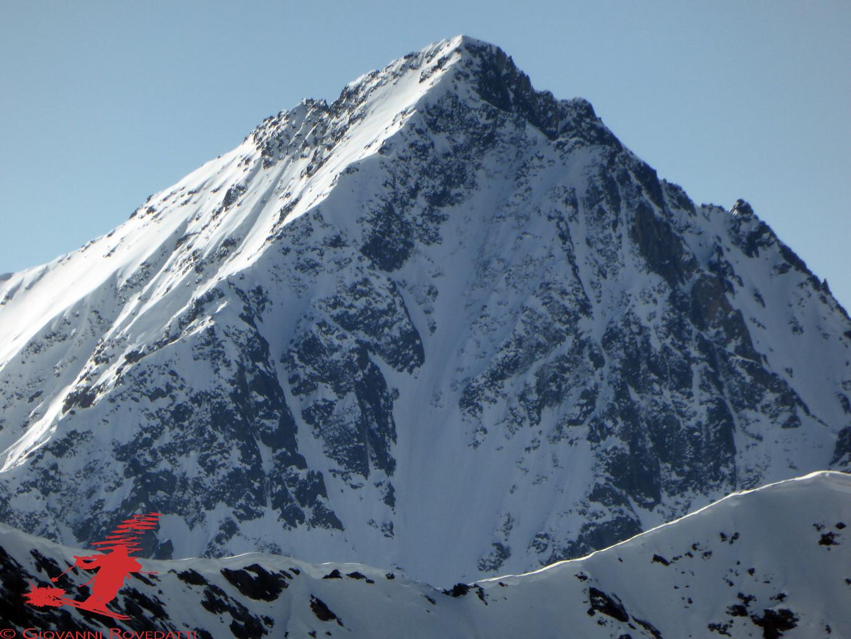 Il Corno dei Tre Signori 3360m salendo al Monte Sobretta 3296m