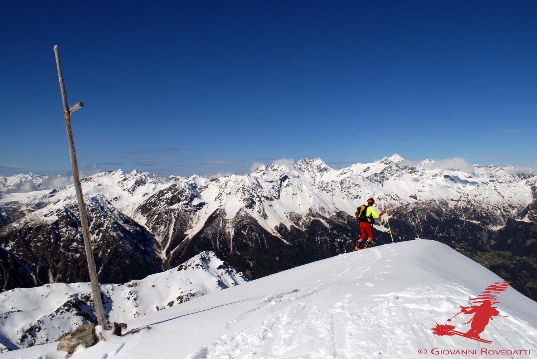 Il gruppo del Bernina dal Piz Trevisina 2823m