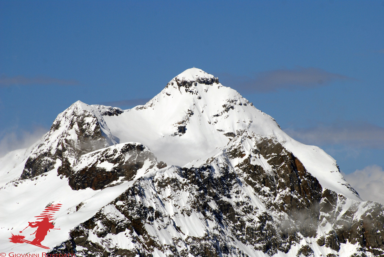 Il Pizzo Scalino 3323m dal Piz Trevisina 2823m