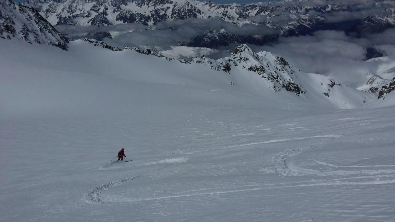 Descente du glacier