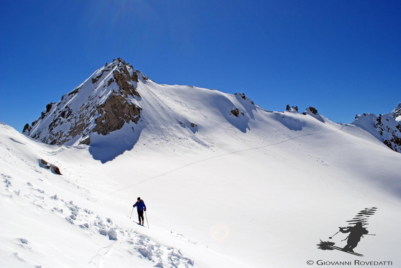 La Cima di Val Bona 3033m e Passo di Vazzeda 2967m versante W Valle del Forno