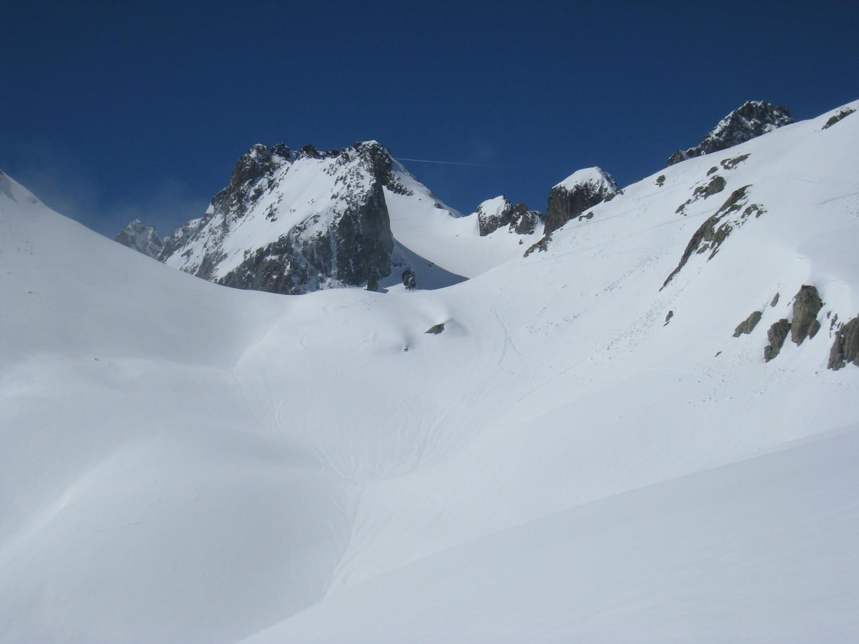Retro vers le Pic Lauzière depuis le plateau (2400m)