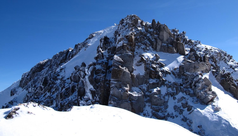passage pour rejoindre le sommet