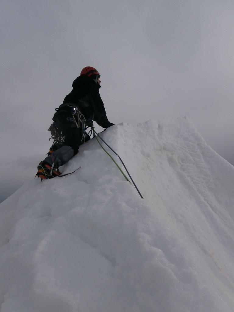 Jean Seb sur la crête en neige