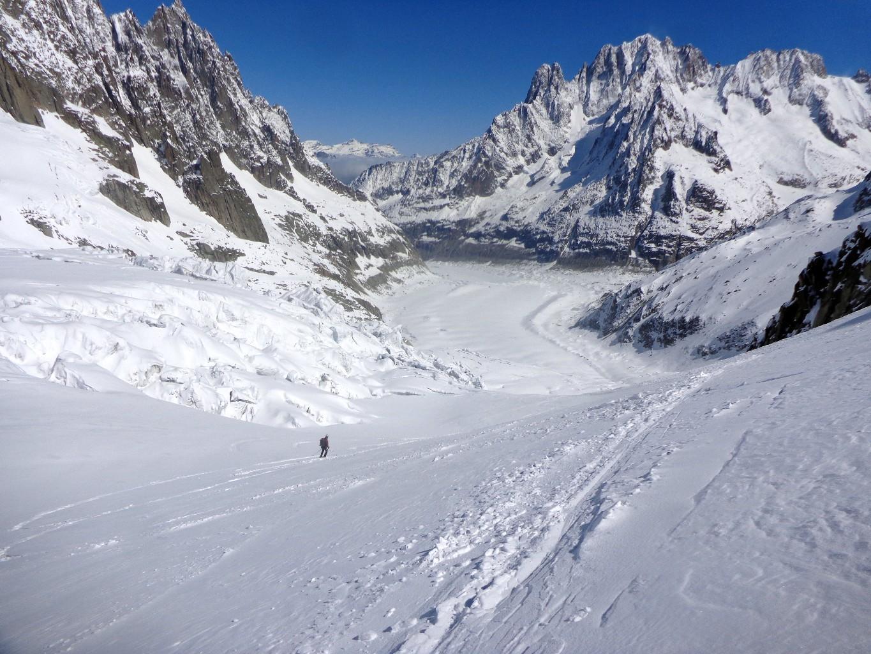 Bajando por el lado derecho del glaciar