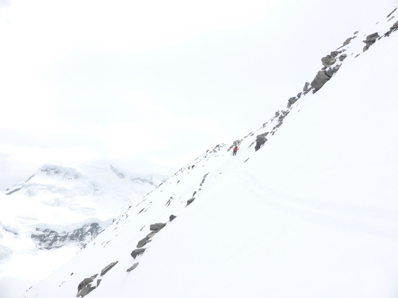 Jour blanc au départ du sommet