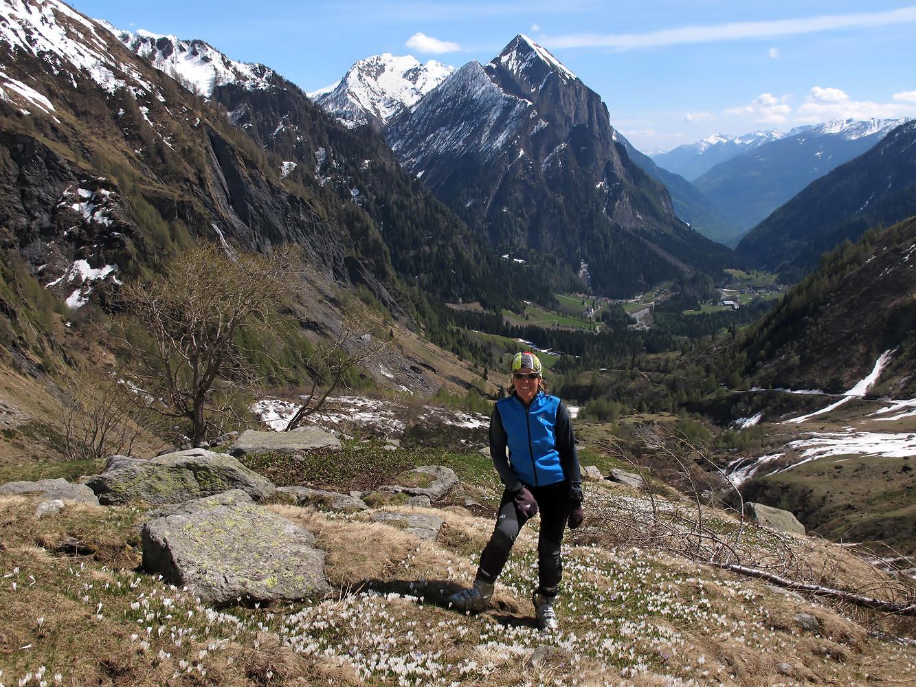 Val Camadra; finita la neve! Quale bella stagione, la primavera, ad ogni modo!