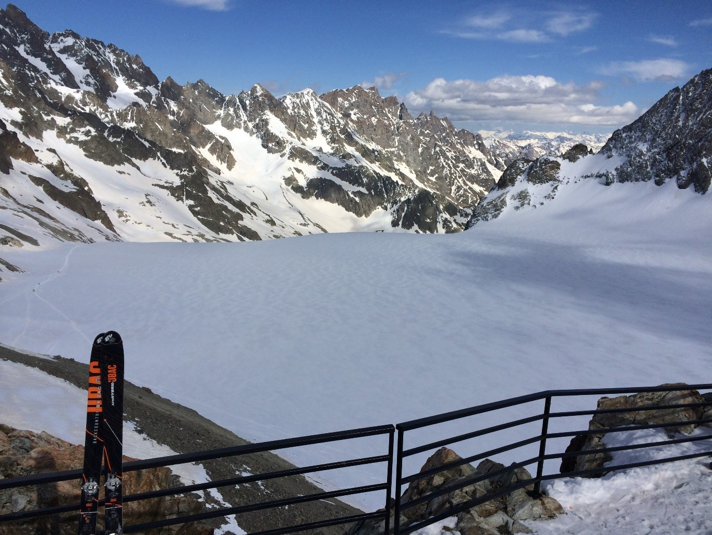 le glacier blanc vu du refuge