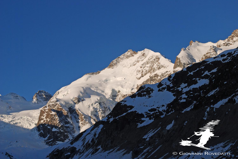 Pizzo Bernina 4048m e Crast'Aguzza 3854m da Morteratsch