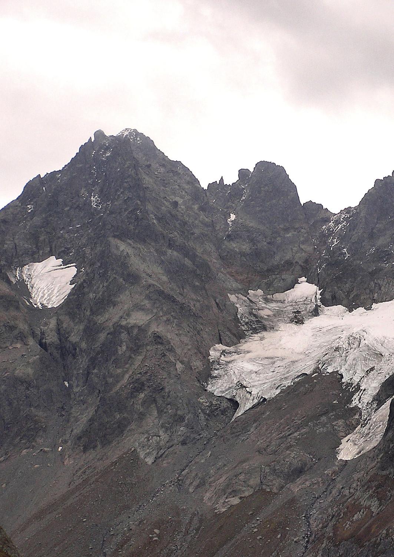 Nom du sommet et  celui du glacier