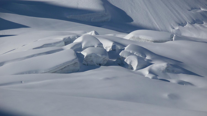 Séracs dans le Val Roseg
