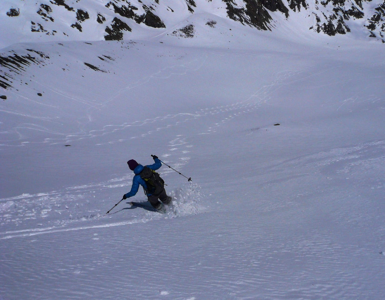 Belle neige dans la pente du Chilchli