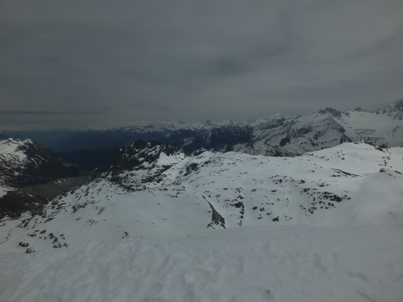 depuis le sommet du Cheval Blanc, aperçu de notre retour ....