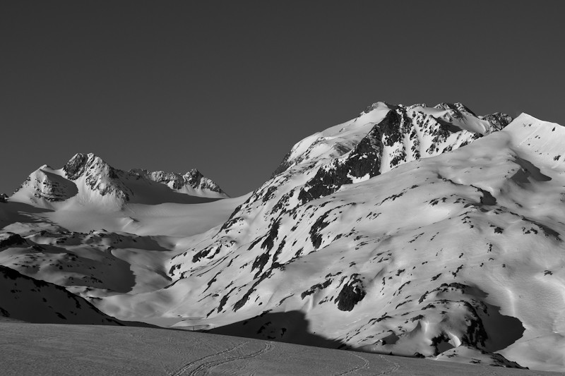 Vers les Grand Sauvage et le glacier de St Sorlin