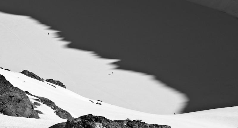Traversée d'arête sur le lac