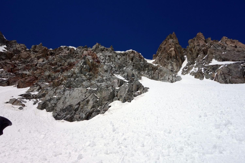 Couloirs d'accès au glacier du Réou d'Arsine