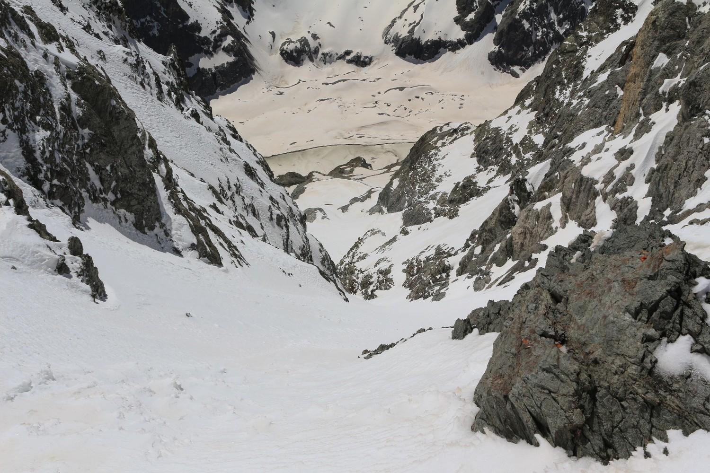 L'entrée du couloir S du Col de la Grande Sagne