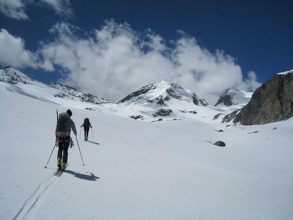 Sur le glacier du Mont Durand, Col de By et Tête Blanche