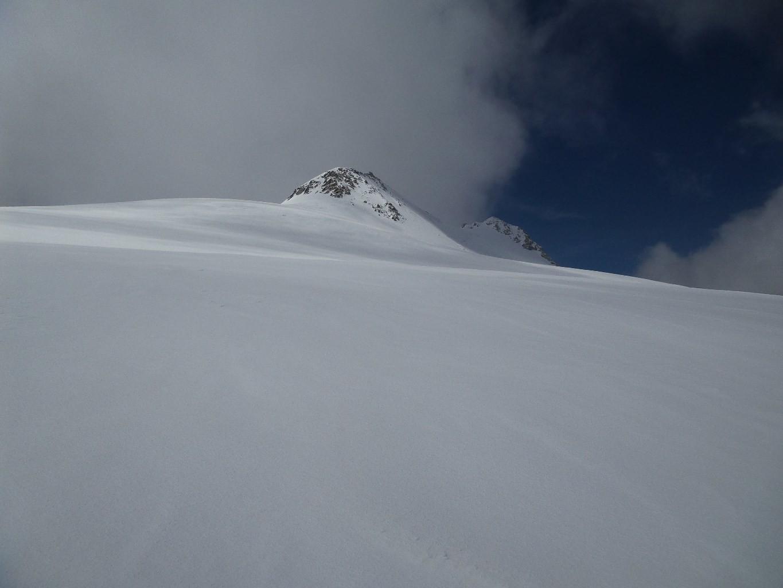 Les deux sommets du Breithorn: on a fait le sommet de gauche (SE)