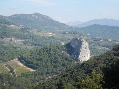 Vue sur le rocher de St Christophe