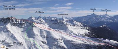 Itinéraire Tête des Fra depuis Morges (Val d'Aoste)