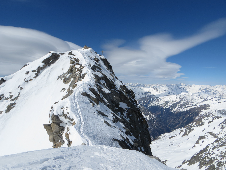 Final ridge from the ski summit