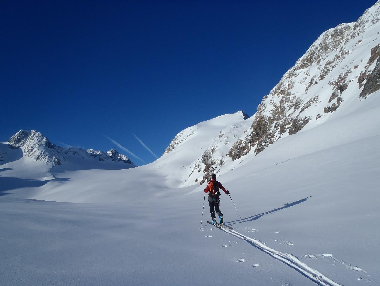 A l'approche du glacier