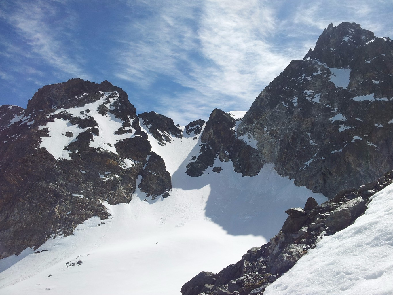 Le versant W de la Brèche de l'Argentière