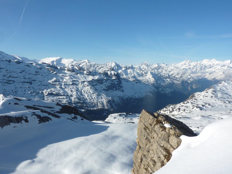 vue de la crète, Tannenstock à gauche