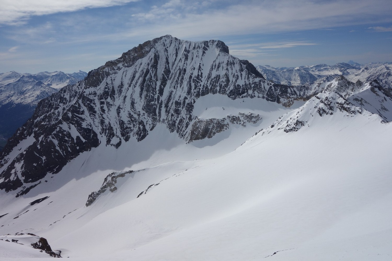 Dent Parrachée et glacier de la Mahure