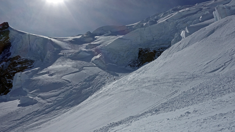 Descente de la Face N du Mont Blanc