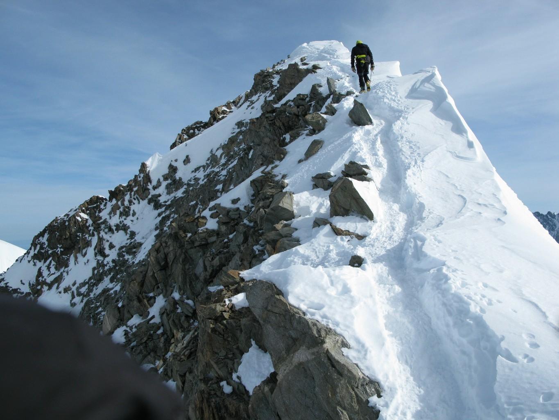 La parte alta della cresta