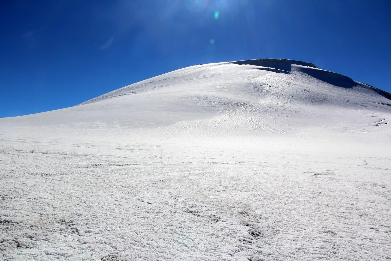 Arrivée sur la calotte glaciaire