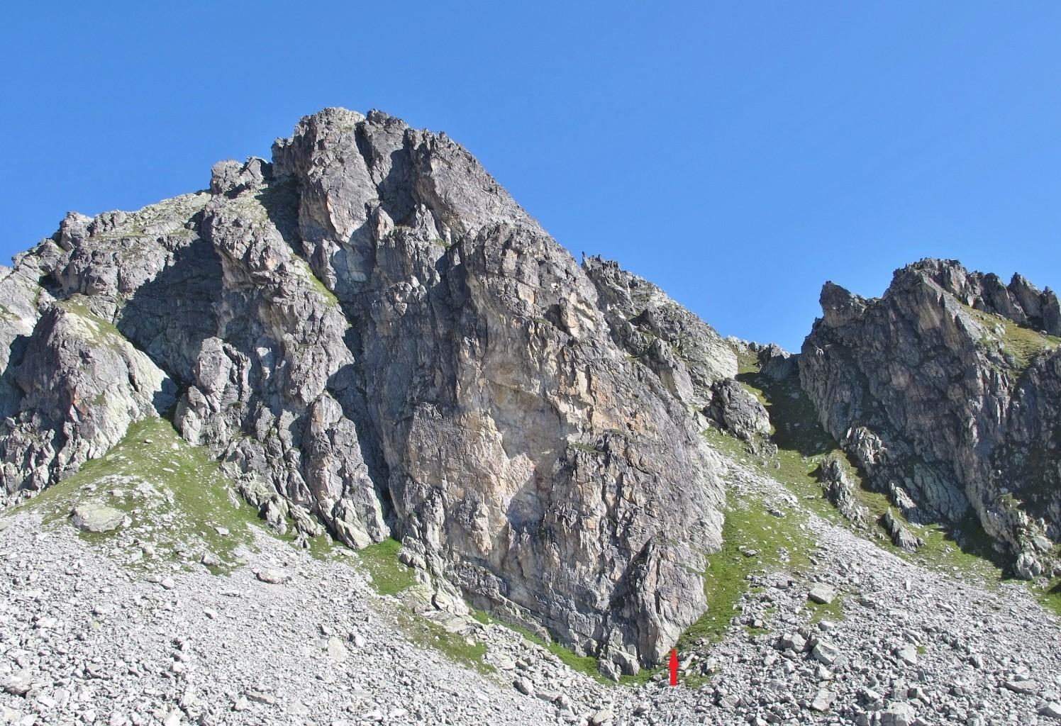 Pointe de Cerdosse, voie du Pilier