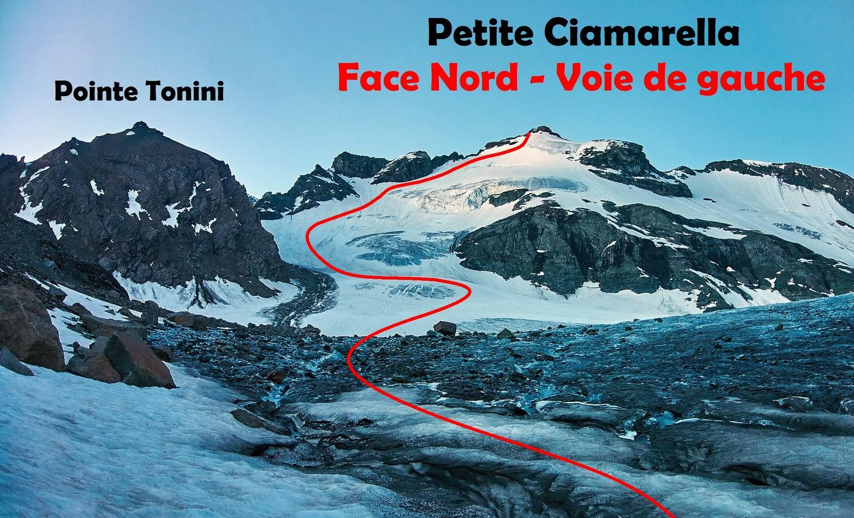 Petite Ciamarella - Face Nord - Voie de gauche