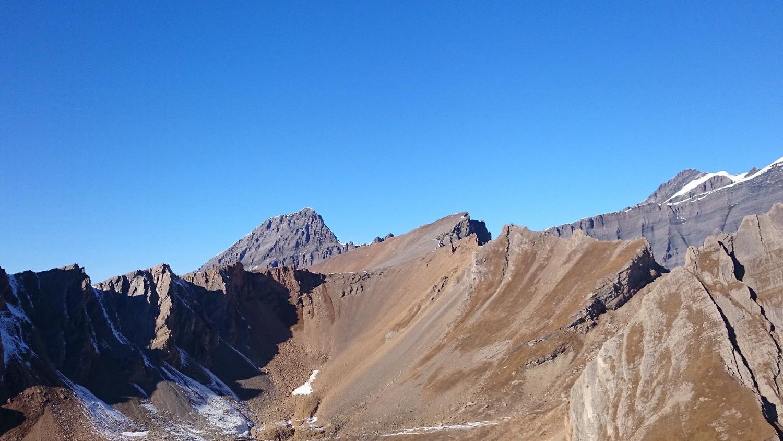 Rinderhorn et Majinghorn depuis Loicherspitza